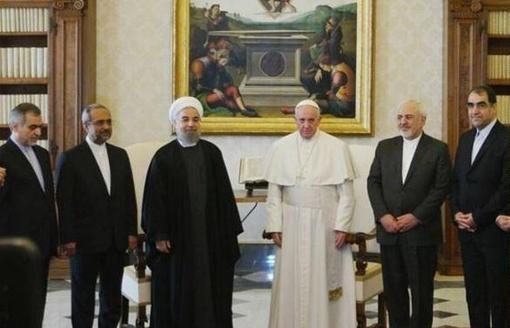 همراهان روحانی در دیدار با پاپ /عکس