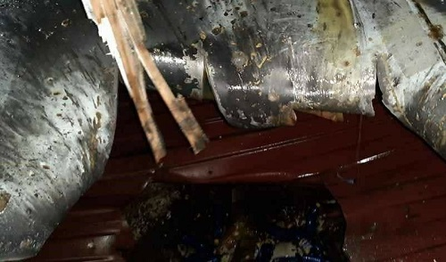 اولین تصاویر از آسیبِ وارده به کشتی ایرانی