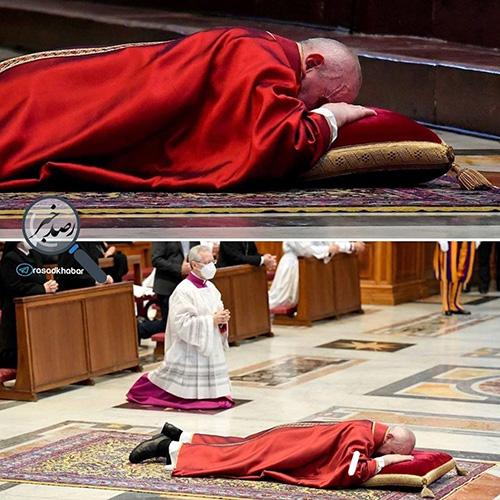 پاپ در آیین نیایش جمعه مقدس در واتیکان