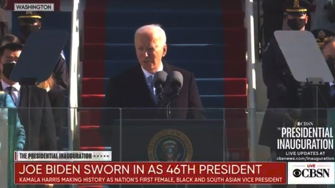 بایدن سوگند یاد کرد/ کاملا هریس سوگند یاد کرد/ خداحافظی آمریکا با ترامپ/ تهدید به بمبگذاری در ساختمان دیوان عالی آمریکا