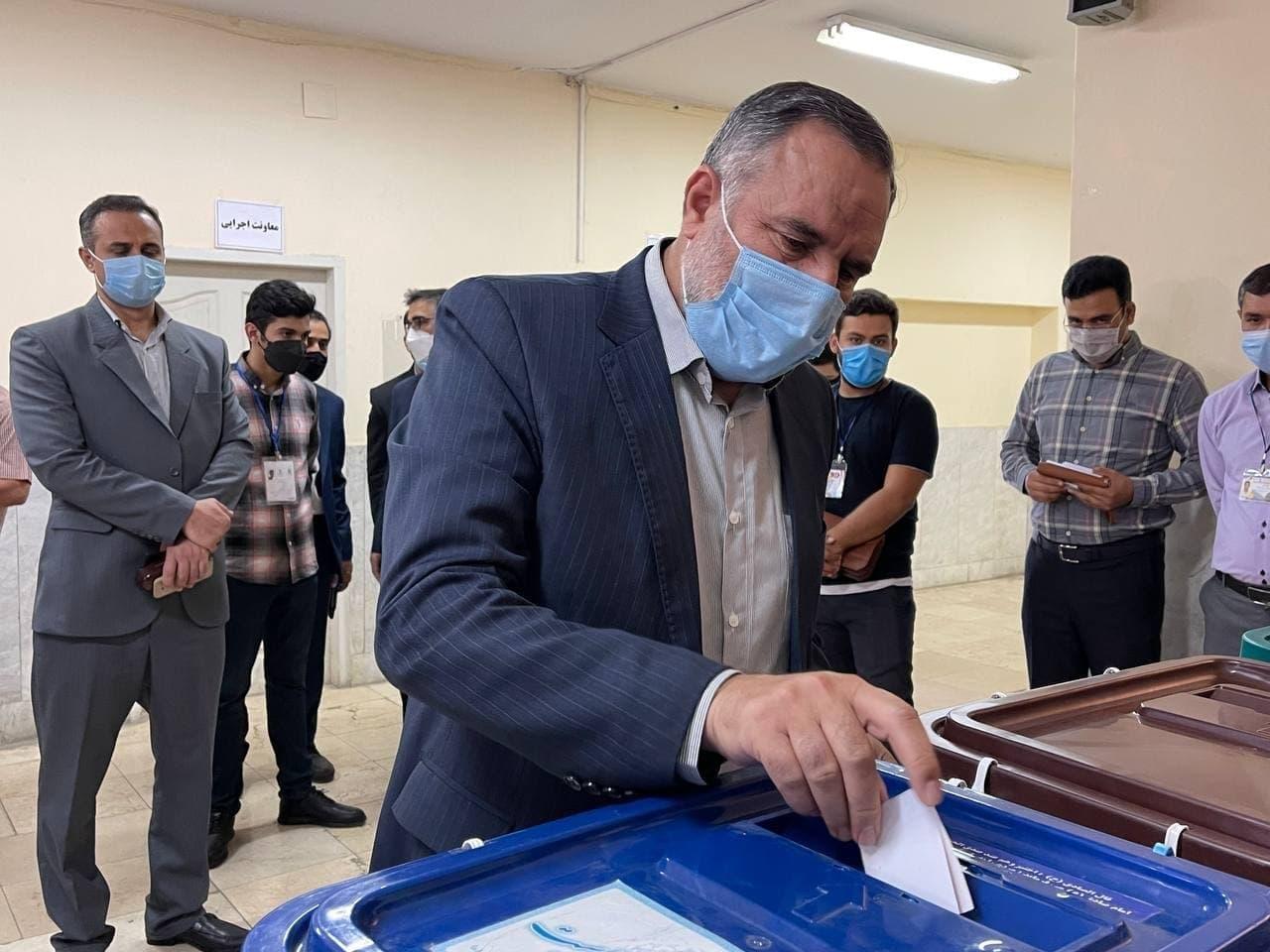 امیر حیدری فرمانده نیروی زمینی ارتش در انتخابات