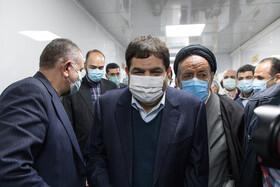 سید محمود دعایی و محمد مخبر رییس ستاد اجرایی فرمان امام(ره) در مراسم رونمایی از بزرگترین بیمارستان سیار کشور