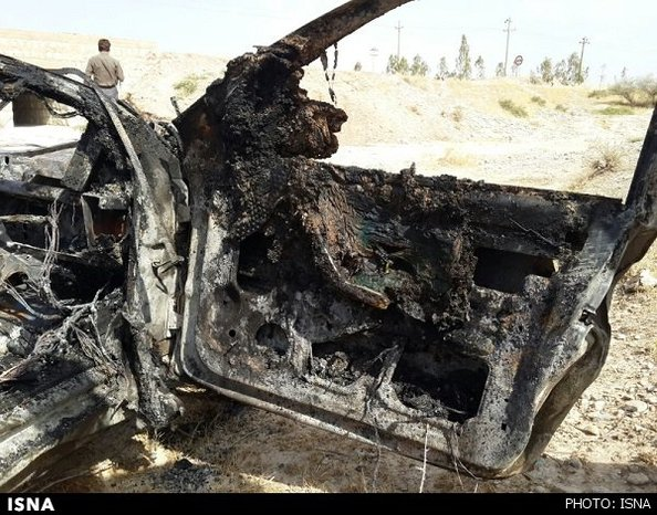 4 پرسنل یک بانک زنده در آتش سمند سوختند/تصاویر