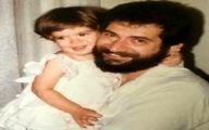 عکس زیرخاکی ستاره پسیانی در آغوش پدرش!