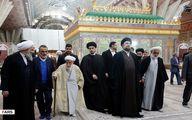 عکس: حضور خمینی جوان در  مراسم تجدید میثاق اعضای مجلس خبرگان با آرمان های امام (ره)