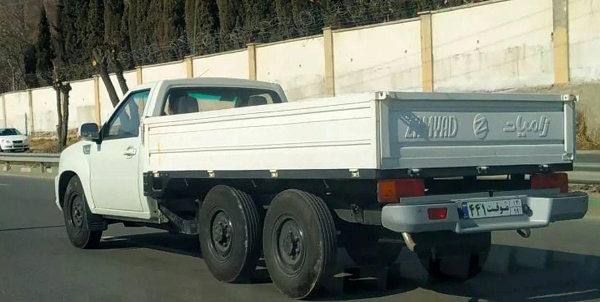 اولین تصاویر خودروی ۶ چرخ سایپا در خیابانهای تهران