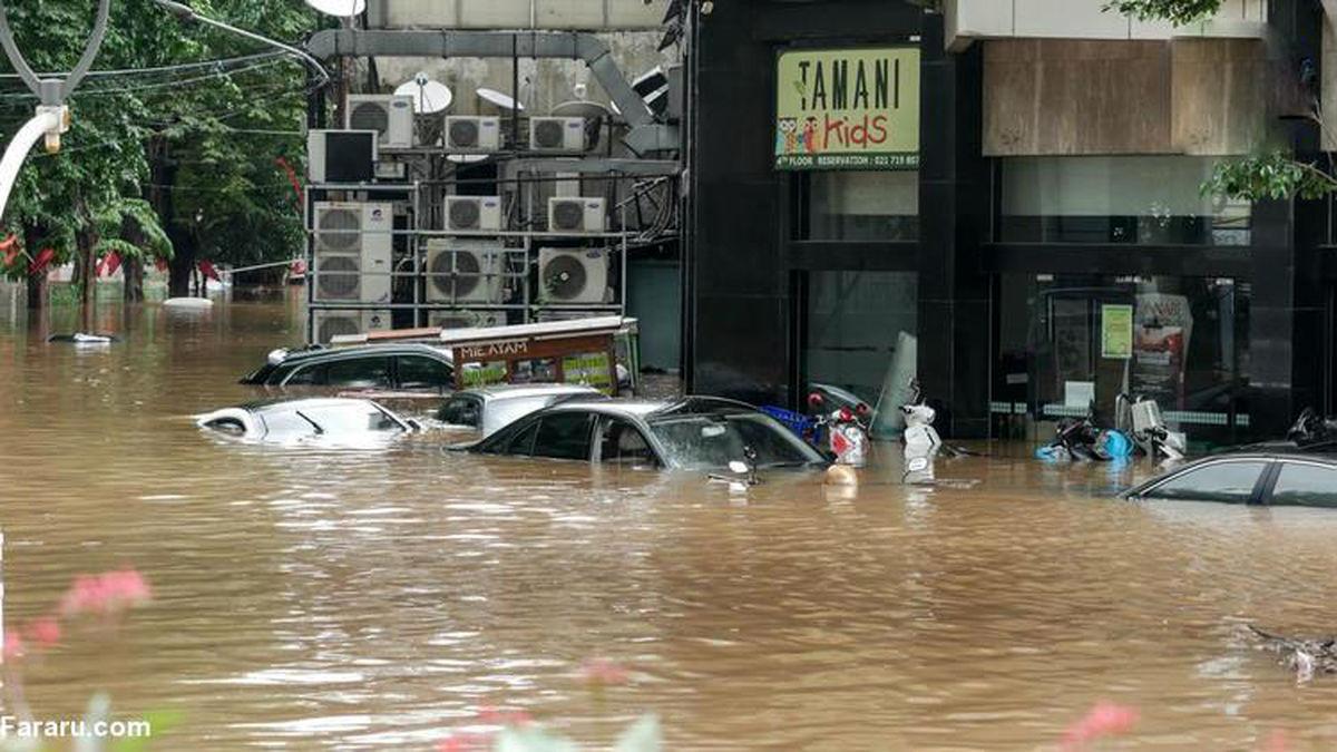 تصاویر باورنکردنی از خسارات ناشی از سیل در اندونزی