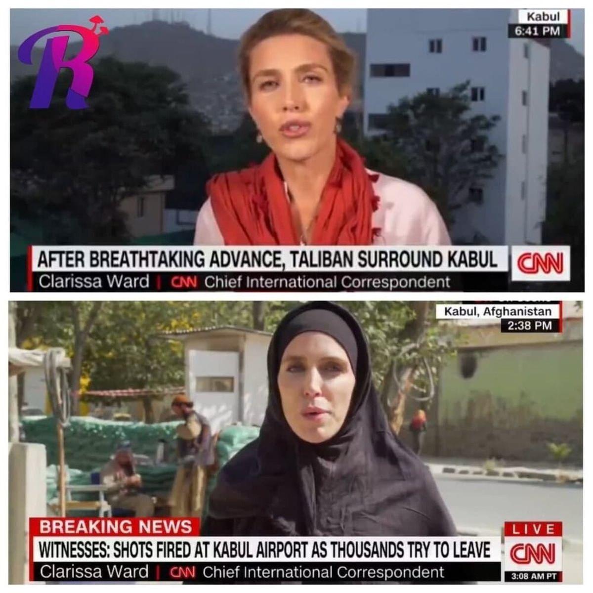 گزارشگر زن CNN در افغانستان قبل و بعد از حضور طالبان!