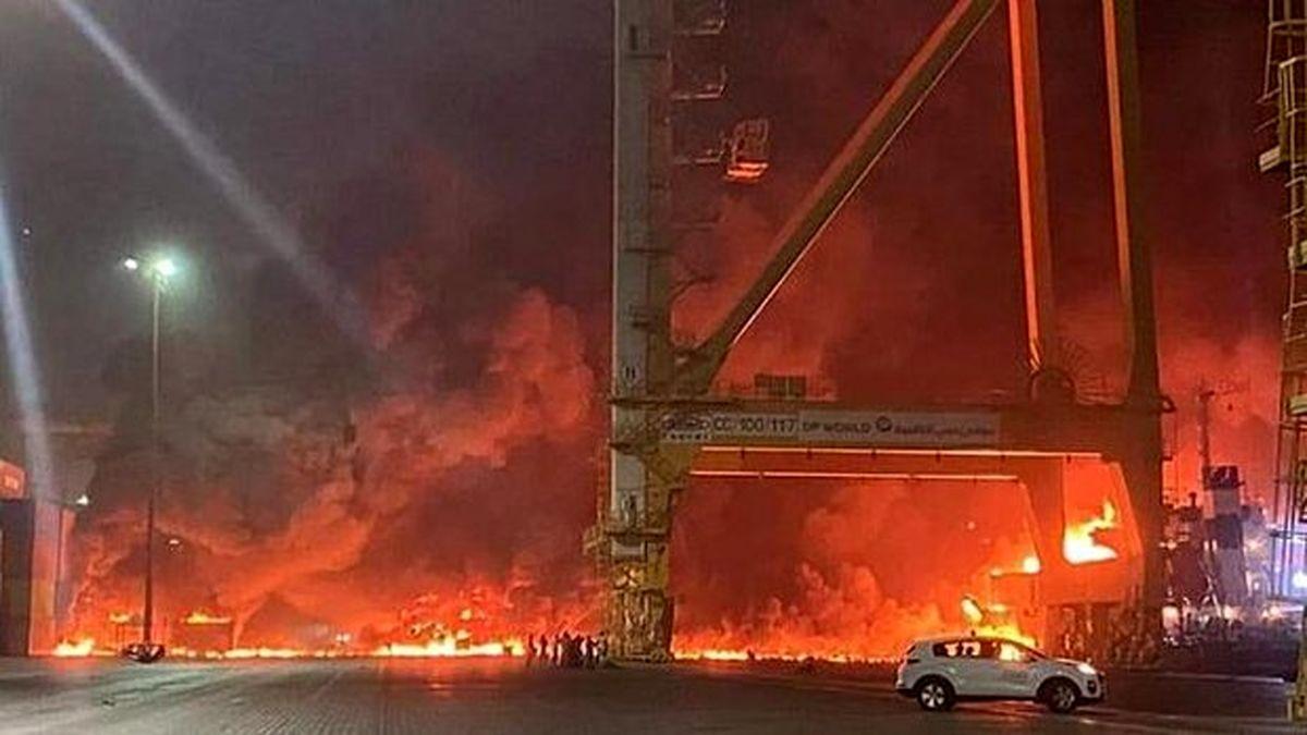 ردپای عربستان در آتش سوزی بزرگ امارات ! + جزئیات