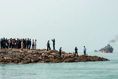 رژه شناورهای سپاه در خلیج فارس