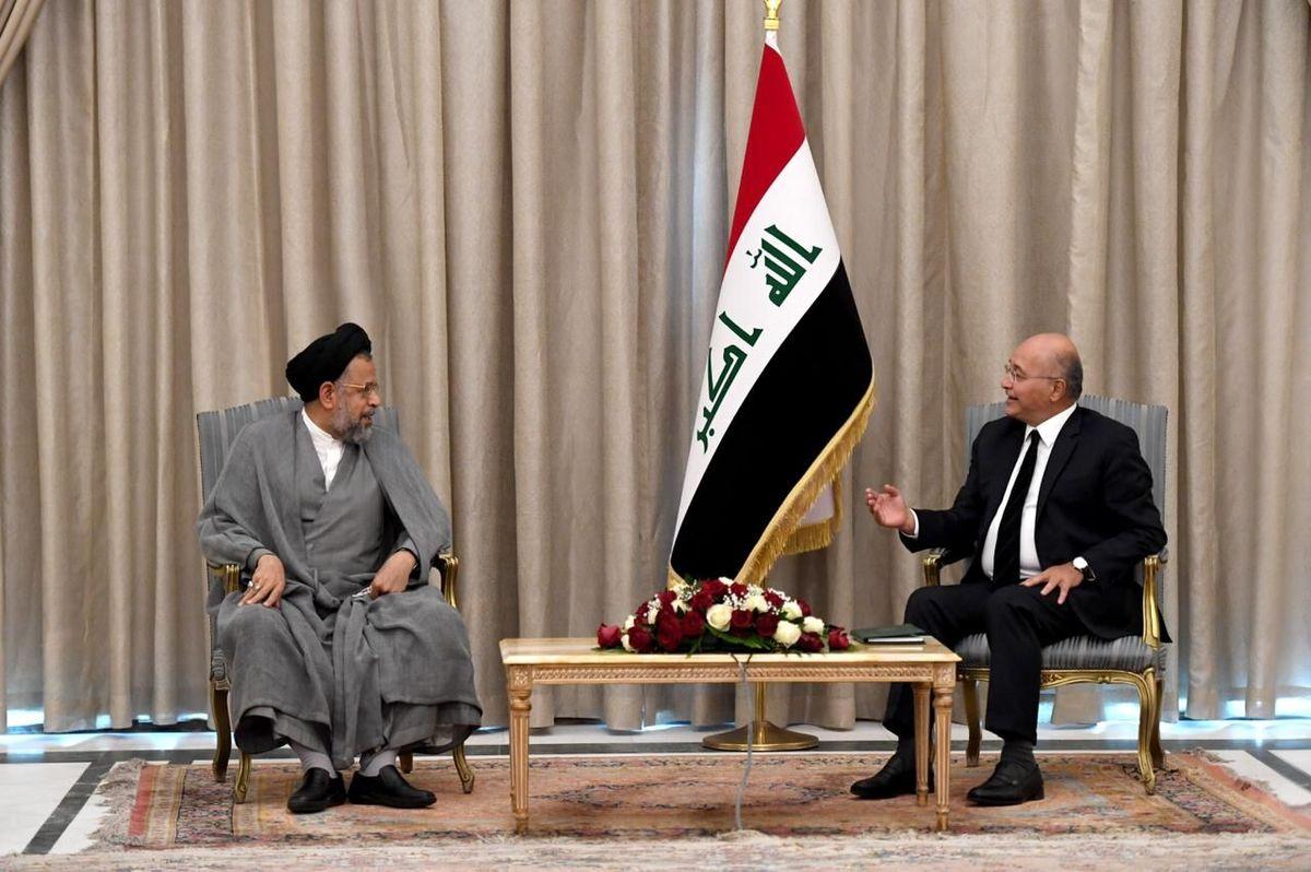 در دیدار وزیر اطلاعات ایران با رئیسجمهوری عراق چه گذشت