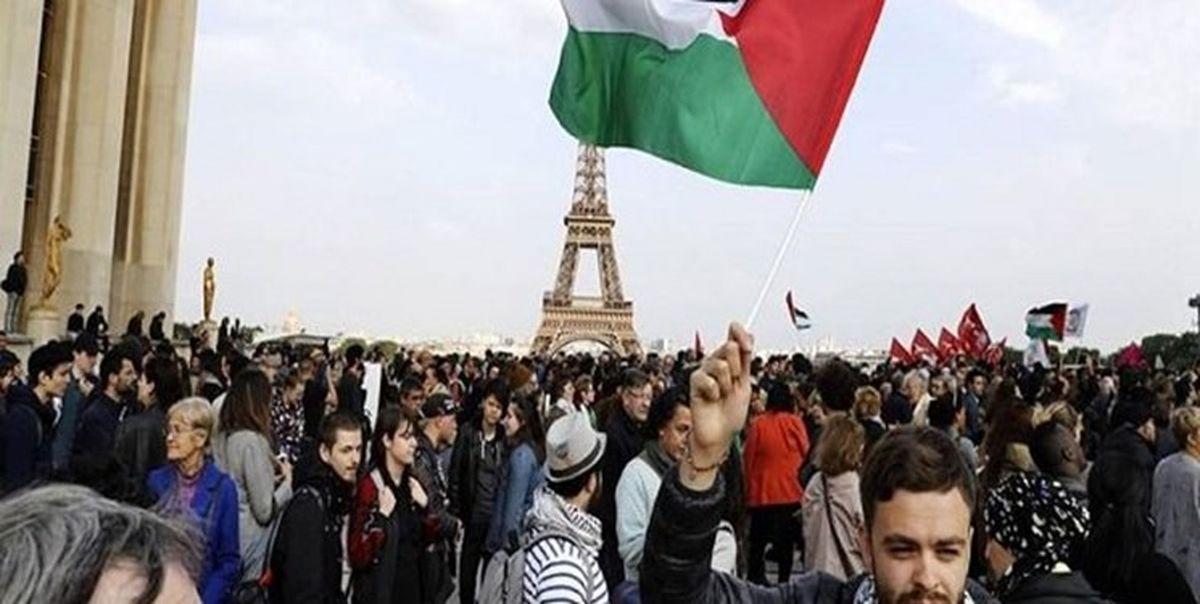 فرانسه برگزاری تظاهرات در حمایت از فلسطین را ممنوع کرد