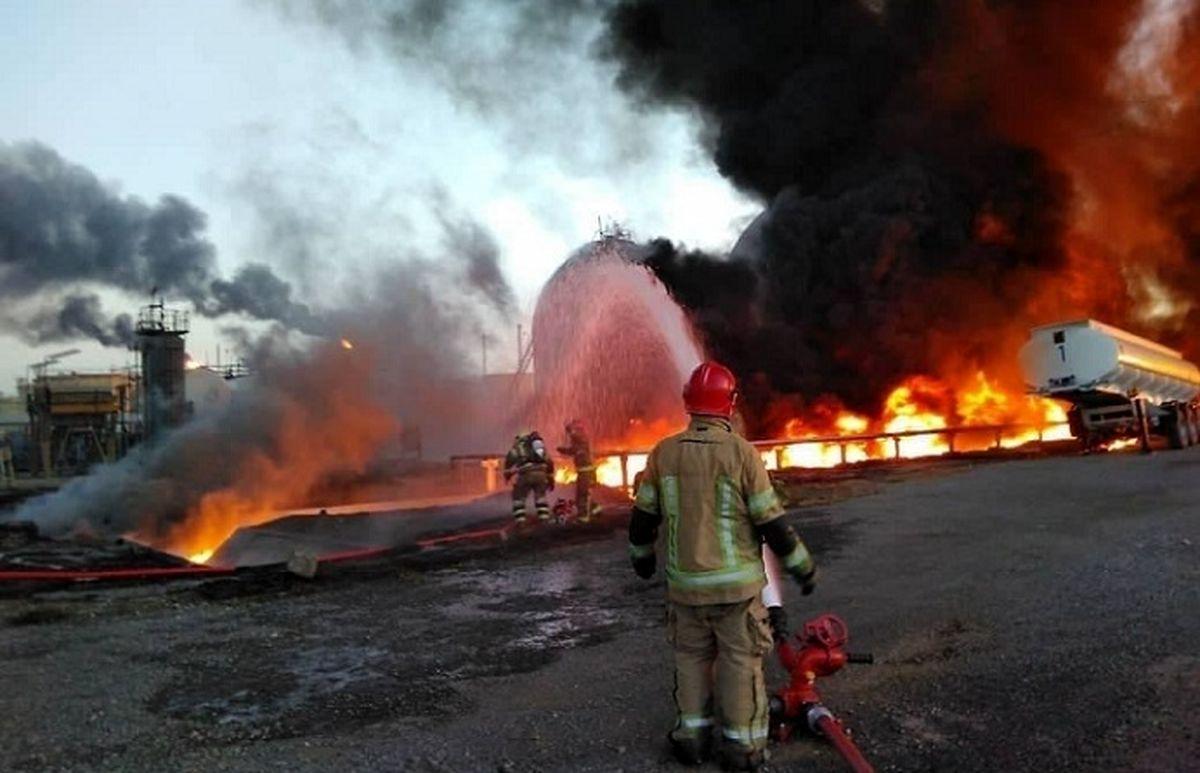 آخرین خبر از آتش سوزی مهیب پالایشگاه نفت تهران + جزئیات