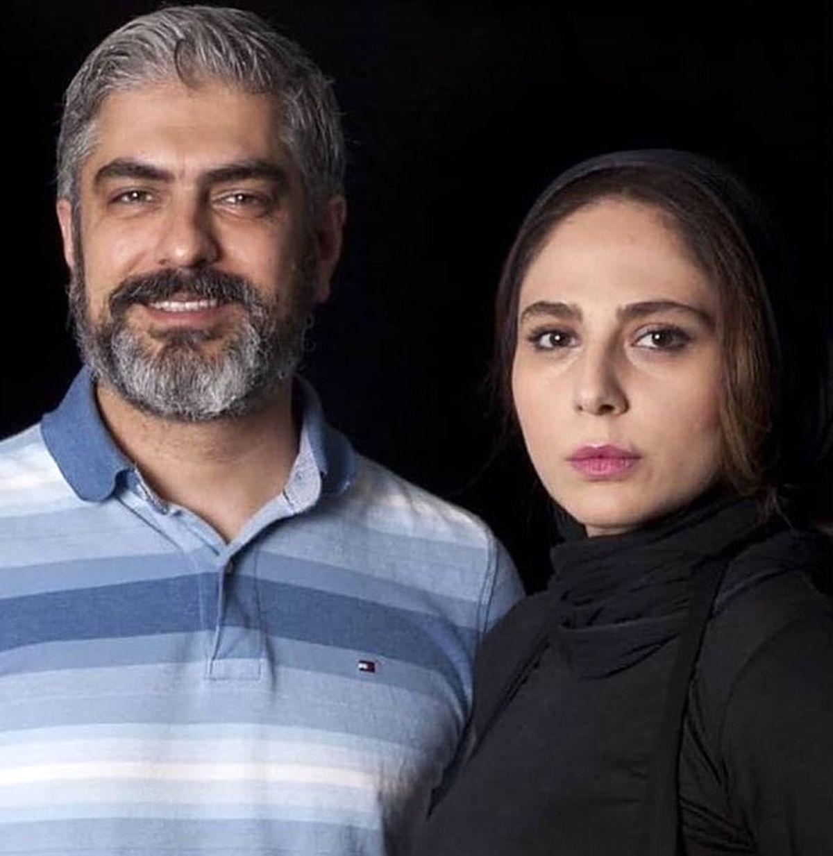 تصاویر عاشقانه مهدی پاکدل و رعنا آزادی ور | عکس های عاشقانه بازیگر زخم کاری