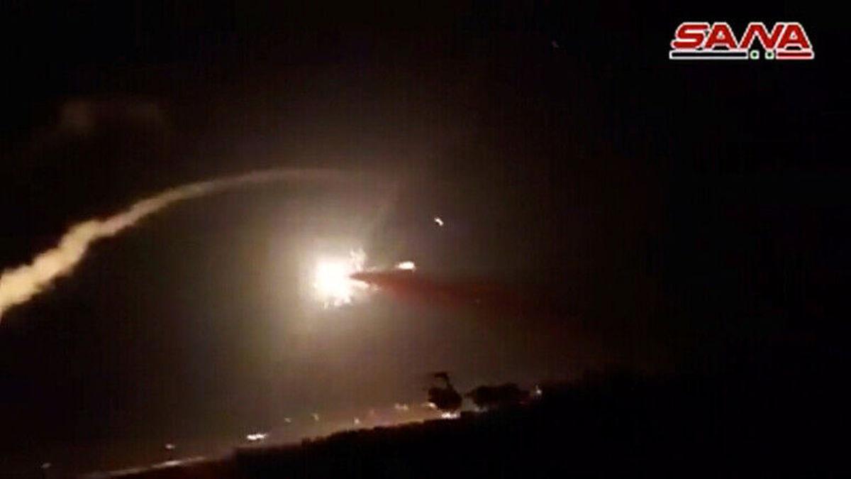جنگ در سوریه / سرنگونی ۷ موشک اسرائیل توسط سوریه + جزئیات