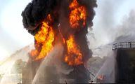 فوری؛ آتش سوزی شدید در پتروشیمی امیرکبیر
