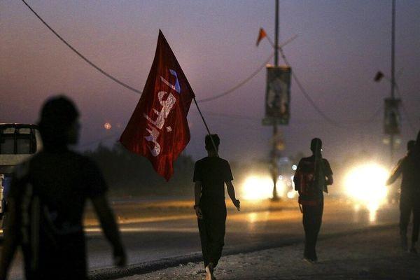 پیادهروی جاماندگان اربعین حسینی در شهر ری