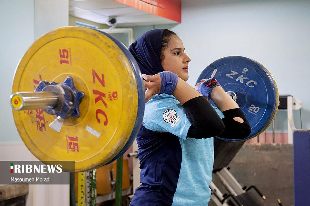 تصاویر دیده نشده از تمرین تیم ملی مسابقات وزنه برداری بانوان