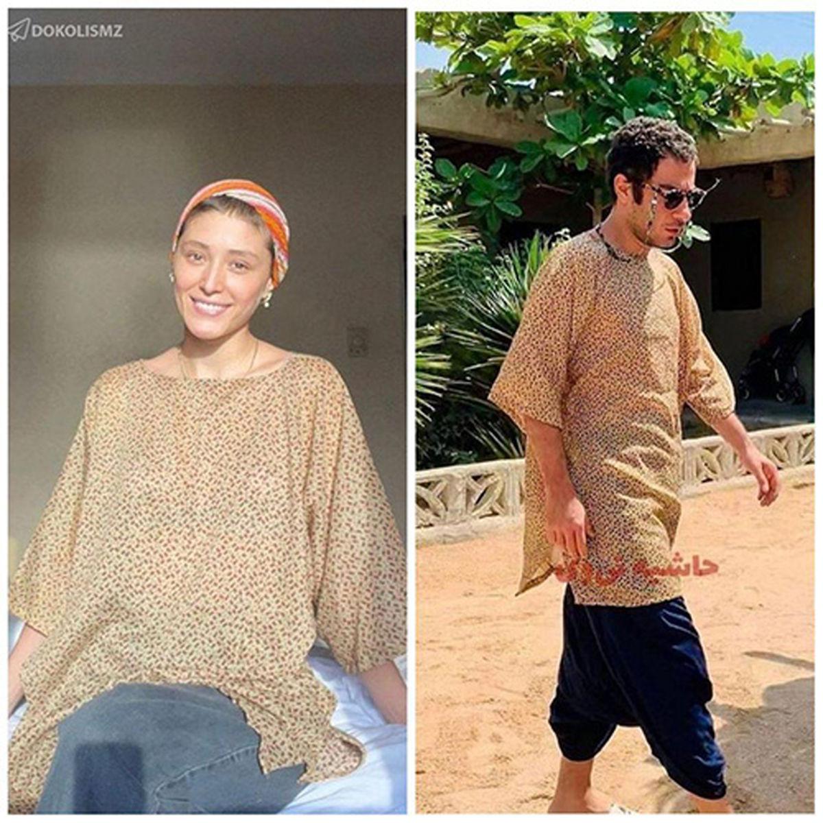 عکس جدید از لباس جنجالی نوید محمدزاده و فرشته حسینی