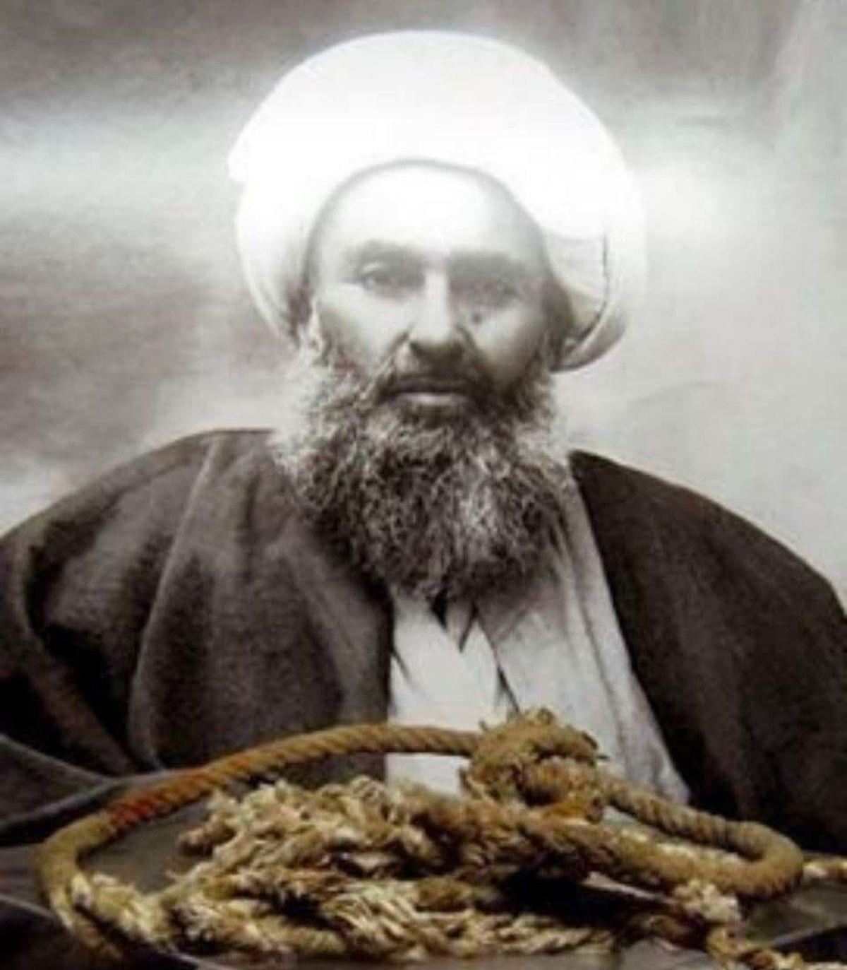 تصویری از طنابی که شیخ فضلالله نوری با آن اعدام شد.