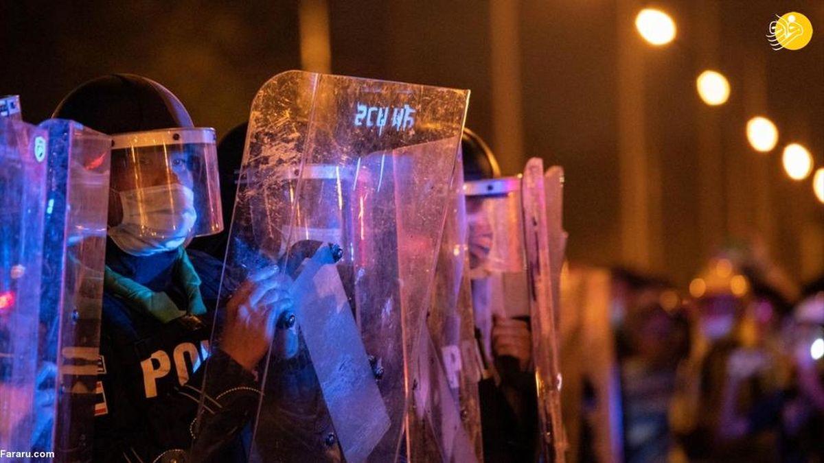 تصاویر دیده نشده از درگیری پلیس تایلند با معترضان