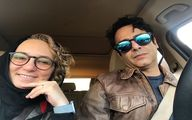 سلفی آقا و خانم بازیگر در ماشین!