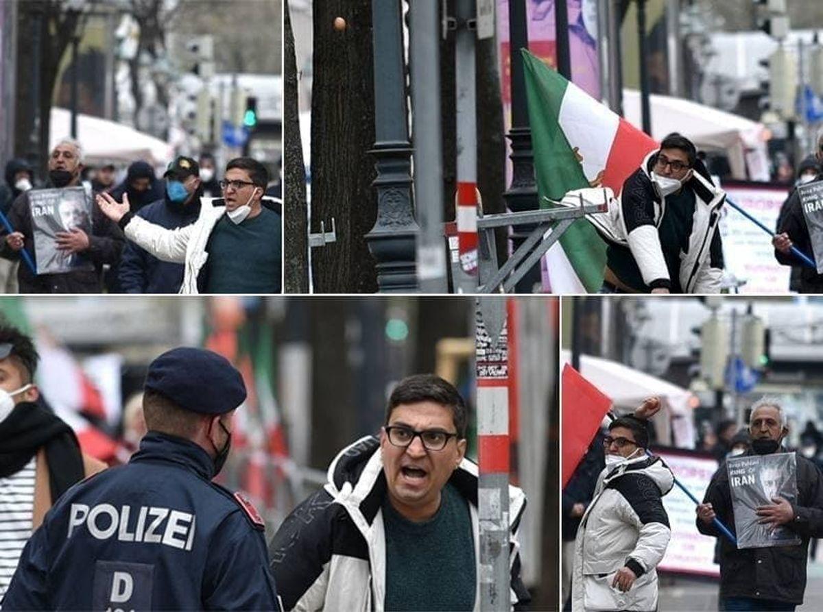 حمله اعضای گروهکهای ضدانقلاب در محل مذاکرات ایران و ١+٤ + عکس