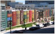 نمای جالب کتابخانه عمومی شهر کانزاس/عکس