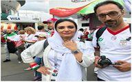 «لیندا کیانی» با لباس تیم ایران در خیابان های سن پترزبورگ+عکس