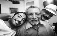 نوید محمدزاده در کنار پیشکسوت فقید سینما + عکس