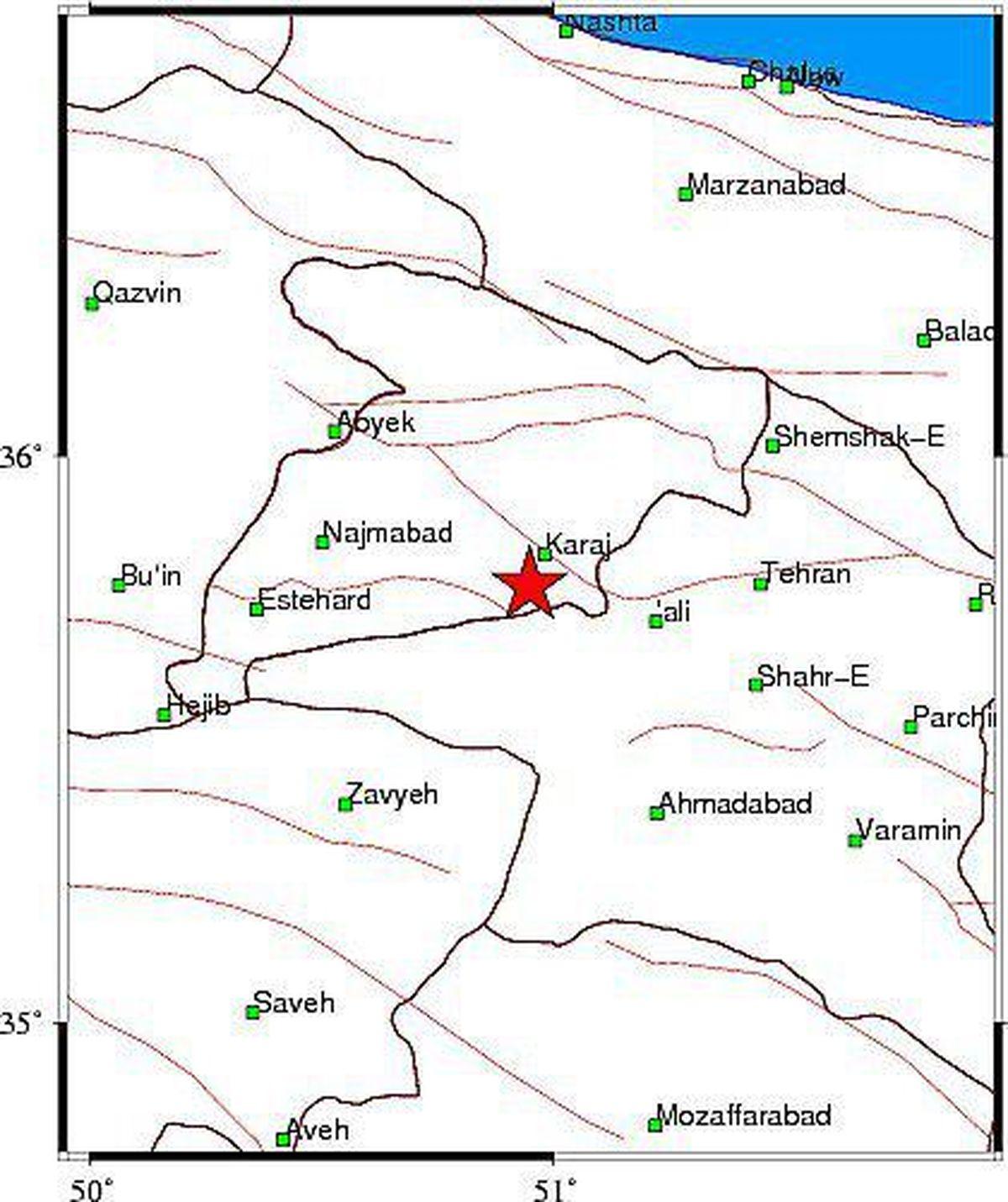 تصویری از محل زلزلهای که کرج را لرزاند