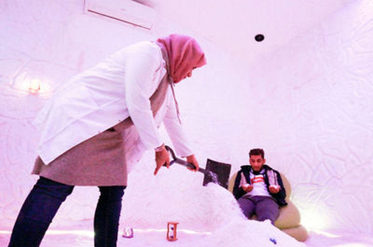 تصاویر زیبا از نمک درمانی در لبنان