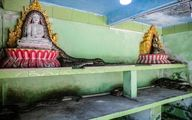 تصاویری عجیب از معبد مارها در یانگون میانمار