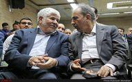 عکس / حرف های درگوشی شهردار تهران و محمد هاشمی