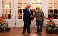 استقبال خانم رئیس جمهور از پوتین / تصاویر