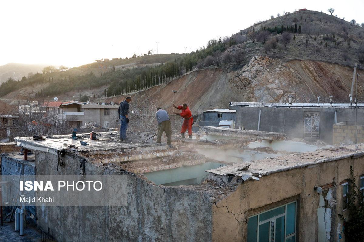 تصاویر منتشر شده از سیسخت بعد از زلزله