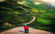 عکسی رویایی از یک جاده در ایران