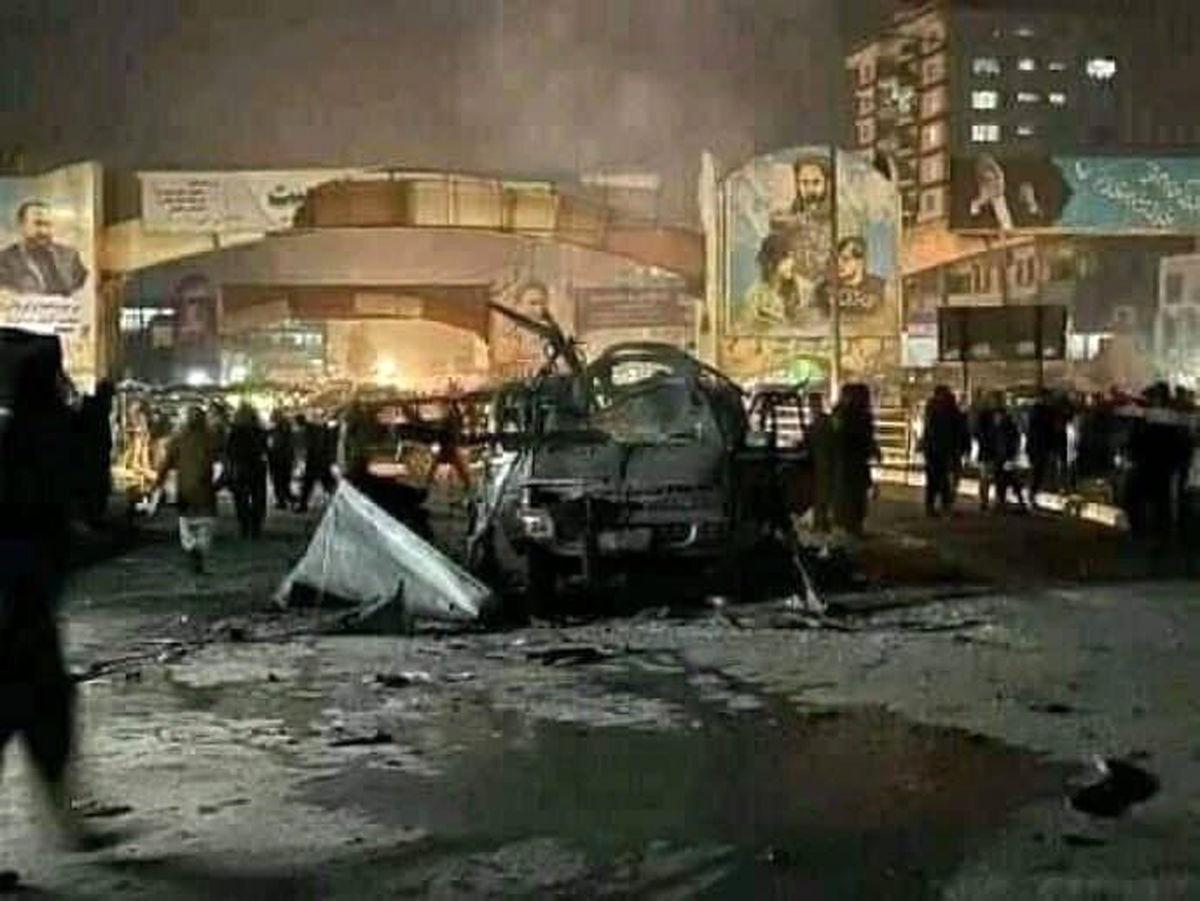 عکس خودروی انفجاری در کابل