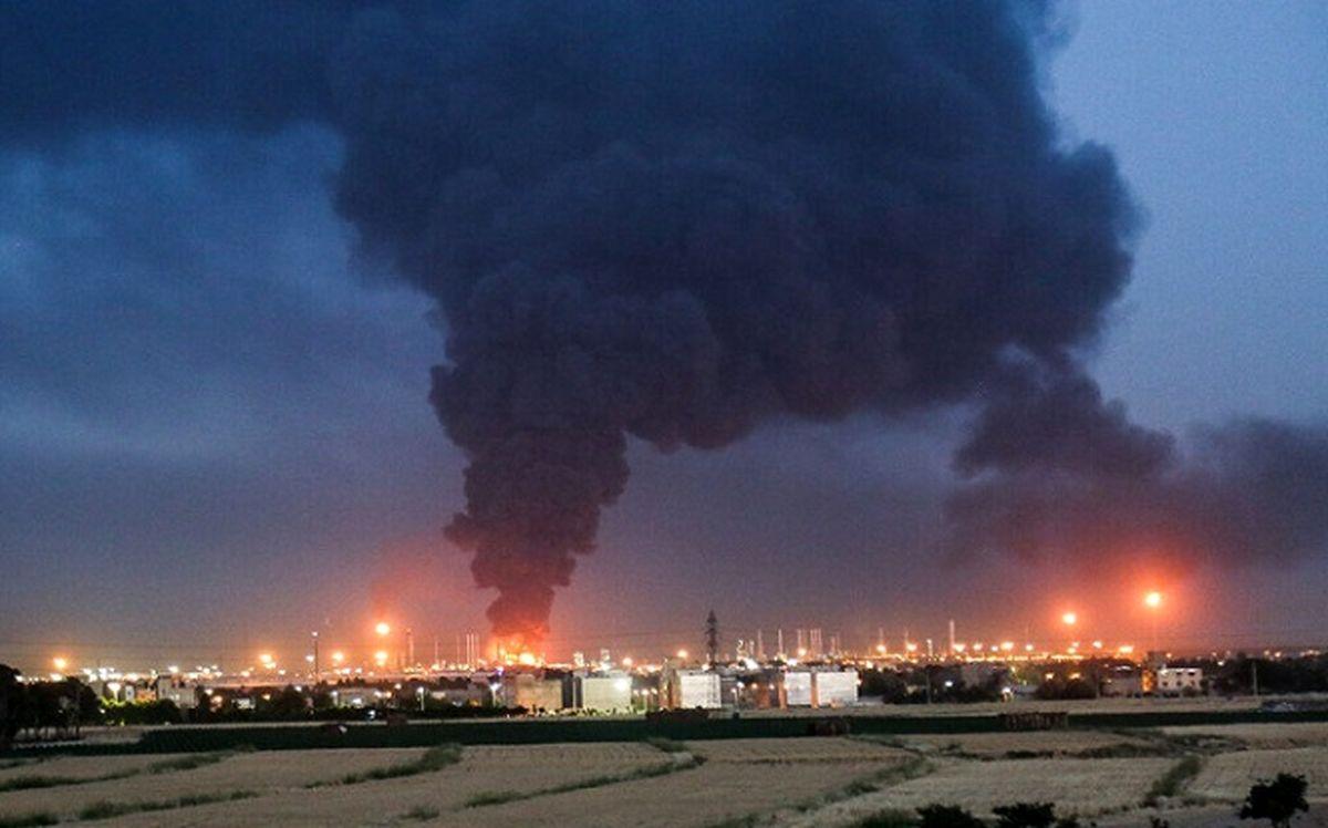 آتشسوزی پالایشگاه تهران ١١ نفر را مصدوم داشت