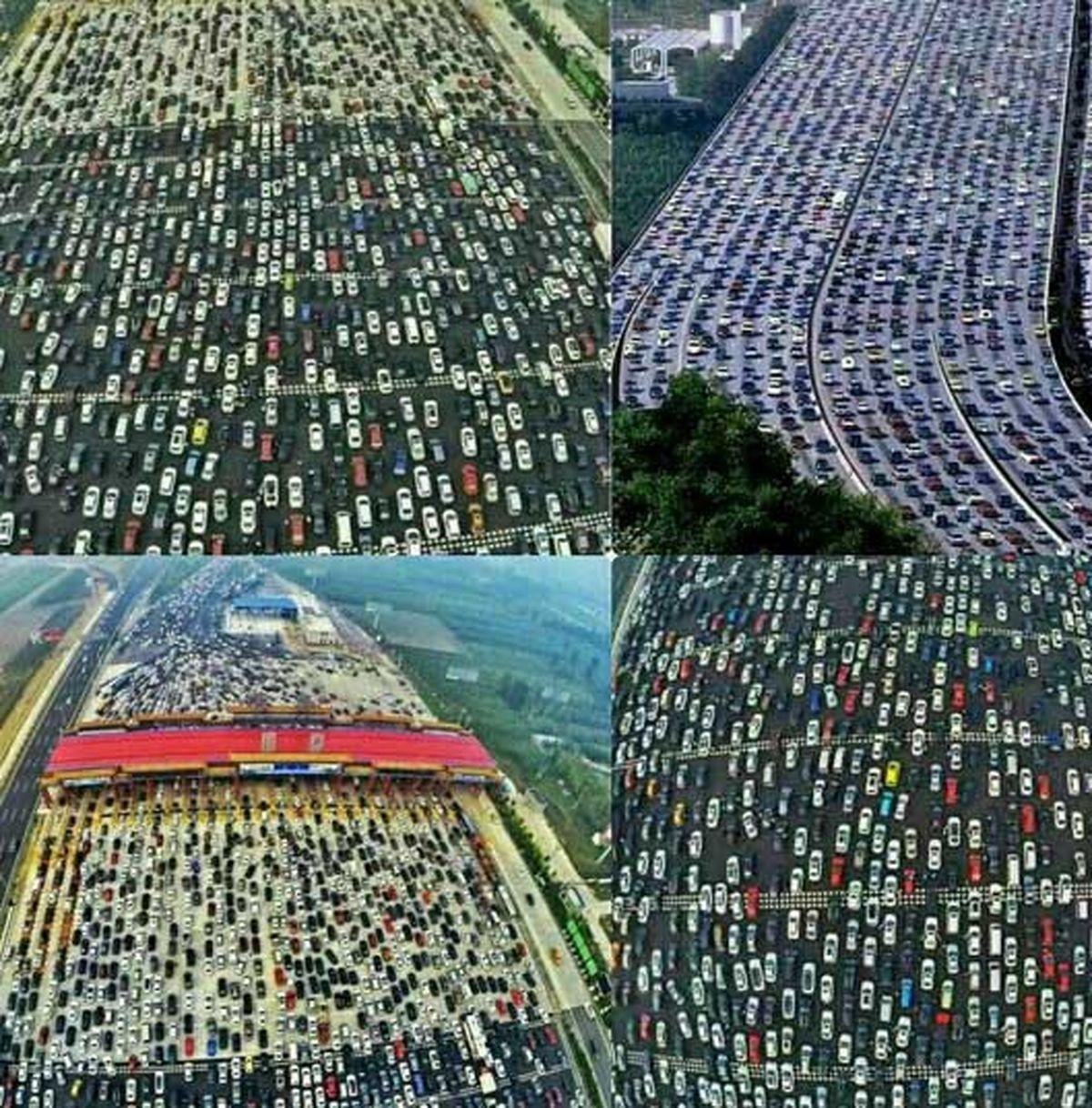 تصاویر طولانیترین ترافیک رخ داده در جهان همراه با فوت و تولد