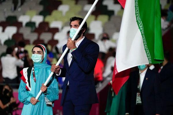 پرچمداری صمد نیکخواهبهرامی و هانیه رستمیان در المپیک
