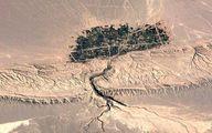 تصویر عجیب ماهواره ایی از یک روستا در ایران