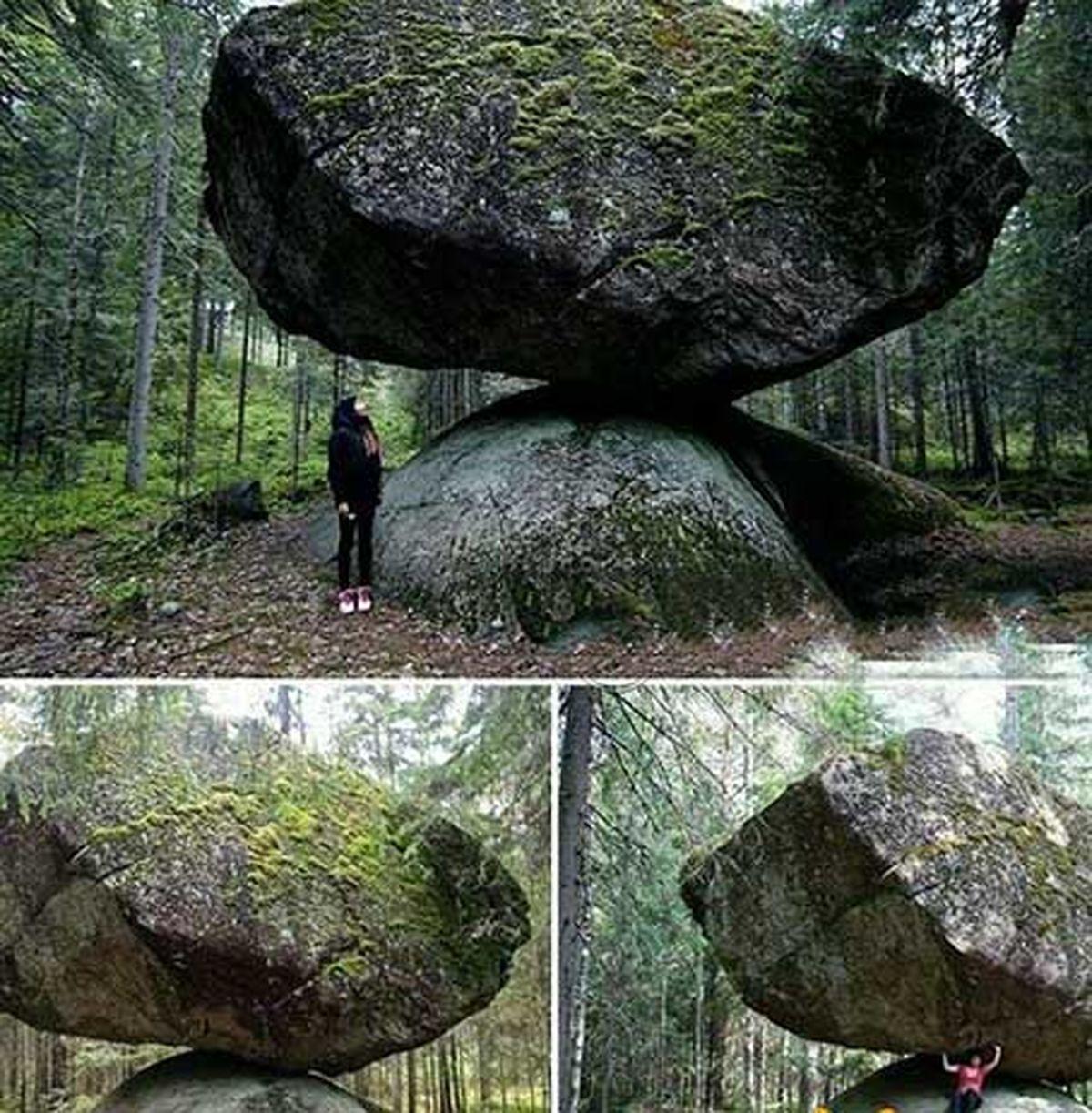 تصویر عجیب ترین صخره دنیا؛شاید کار موجودات بیگانه باشد