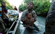 تصویری دردناک از پناهندگان روهینگیا در راه فرار به بنگلادش