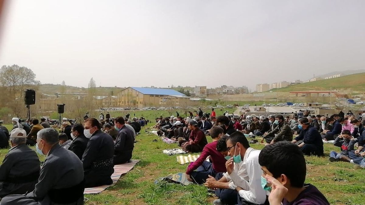 اقامه نماز باران در جوانرود کرمانشاه+عکس