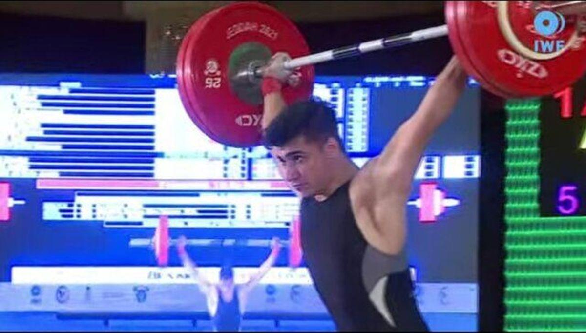 هتریک طلای عباسپور در وزنهبرداری