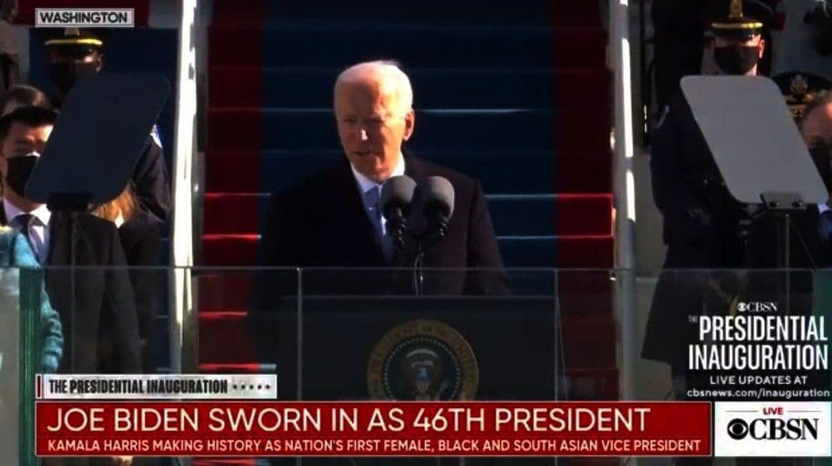 بایدن سوگند یاد کرد/ بایدن: قول میدهم رئیس جمهوری برای همه آمریکا باشم/ خداحافظی آمریکا با ترامپ/ تهدید به بمبگذاری در ساختمان دیوان عالی آمریکا