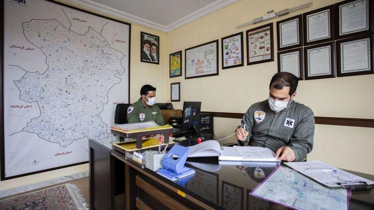 تصاویر دیده نشده از عملیات اورژانس هوایی همدان