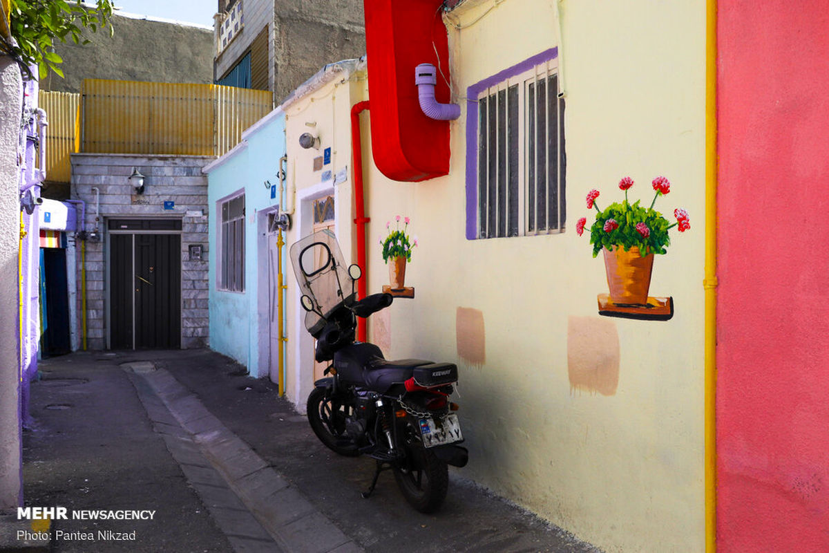 تصاویر قشنگ کوچه پس کوچههای رنگی منطقه ۱۶ تهران