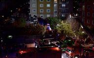 سقوط یک بالگرد نظامی در استانبول/ تصاویر